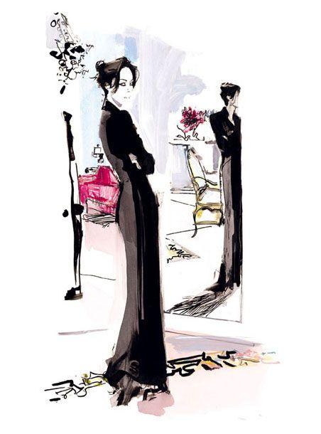 Lady Amanda Harlech illustrated by David Downton