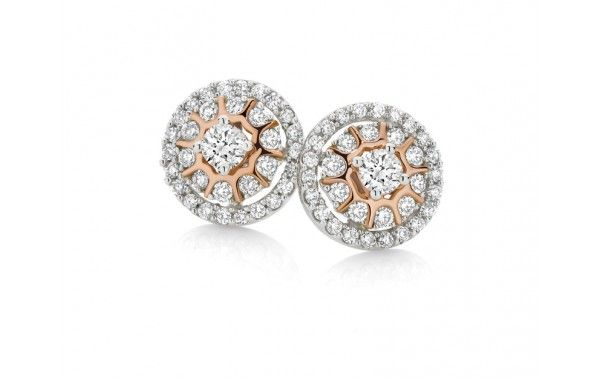 0.50ct of diamonds in 9ct rose and white gold.