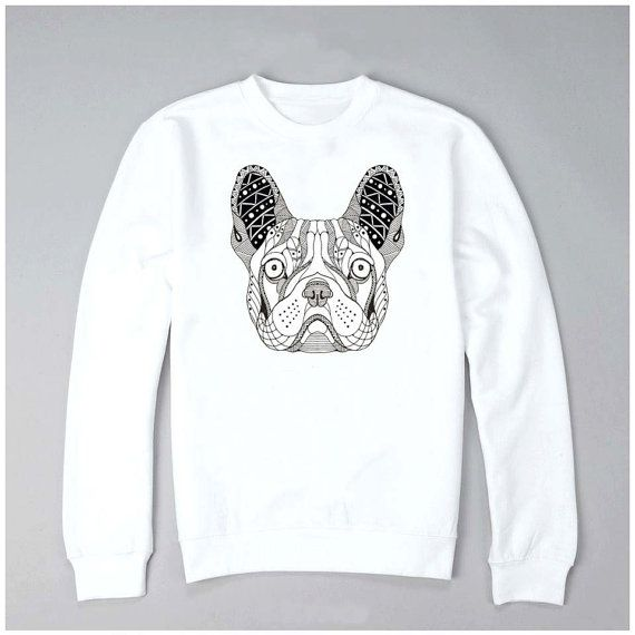 Hey, I found this really awesome Etsy listing at https://www.etsy.com/ru/listing/471658220/hand-painted-sweatshirt-bulldog-white