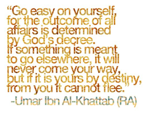 Saying by Umar Ibn Al-Khattab (RA)