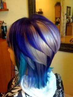 Purple & Blue Hair Layers