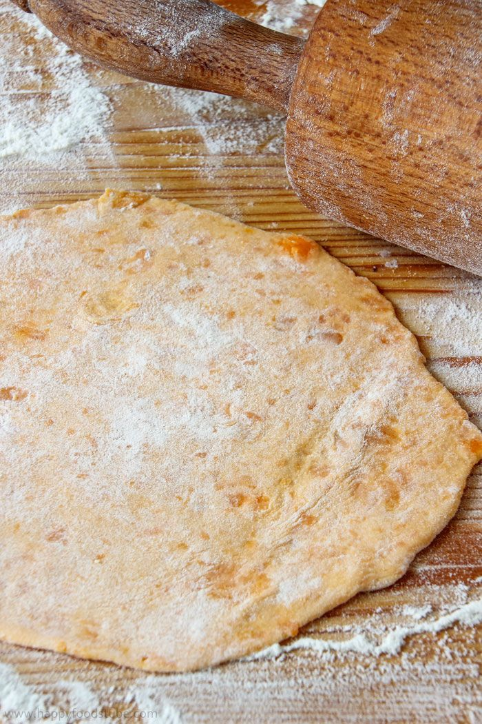 Homemade Sweet Potato Flatbread Roti Step by Step Image