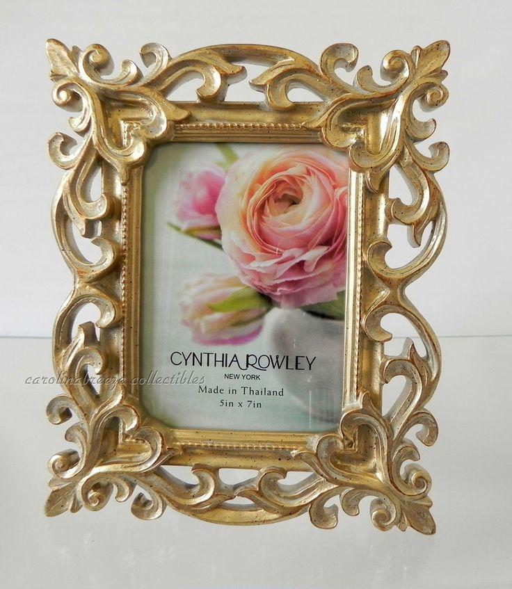 photo frame cynthia rowley bold gold baroque scrollwork