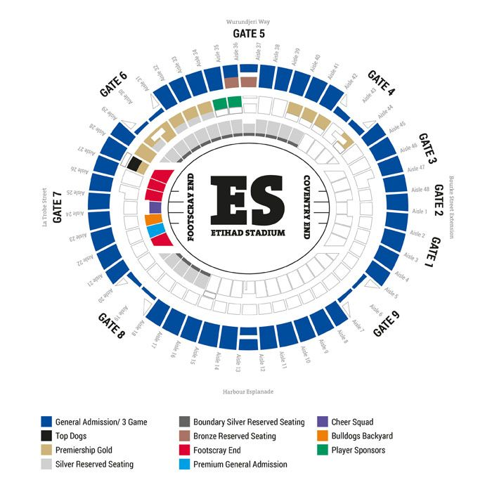 SEAT MAP | Western Bulldogs