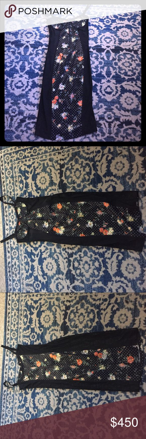 Dolce & Gabbana Floral Satin Corset Dress Authentic Dolce & Gabbana Black Floral Polka Dot Satin Corset Dress  -Pre Owned with little to no sign of wear -size 26 (US 4) -Satin/lace material and corset bralette style make it perfect for a night out on the town -Intricate lace and polka dot sultry design Dolce & Gabbana Dresses Midi