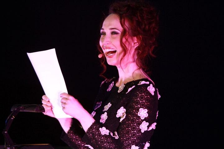 Chiara Francini, nuovo volto del cinema italiano, alla presentazione della 27ma edizione del #Torino GLBT Film Festival