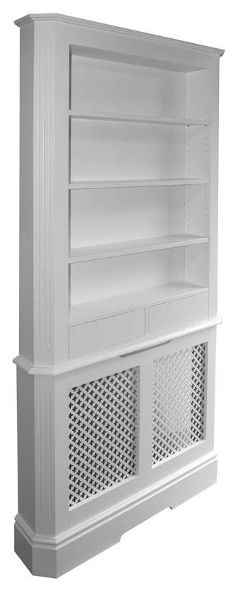 over radiator shelf | Malvern in mahogany with VM60 mahogany grille