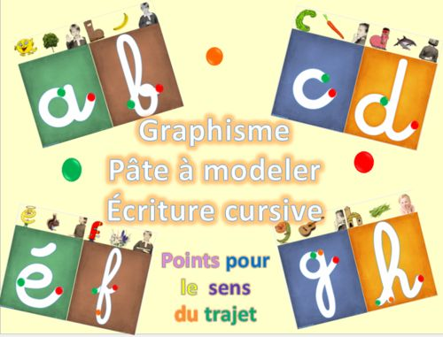 tracer des lettres cursives-graphisme
