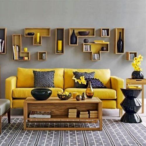 jaune et gris, doux et coloré à la fois
