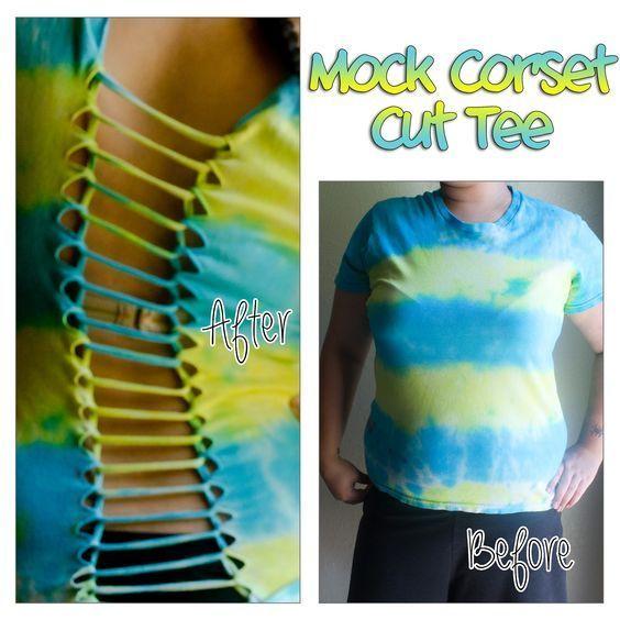DIY Cut T-Shirt Designs   call it a
