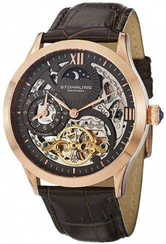 Stuhrling Original 571.3345K54 Classic Winchester Tempest II Automatic Skeleton Watch For Men
