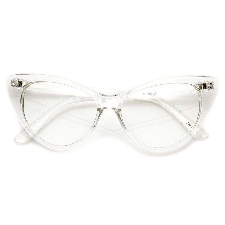 A distinct mod version of 50s-inspired cat eye glasses with high pointed corners. You'll find they can work with many outfits, from the very modern to the utterly vintage. Made with an acetate based f