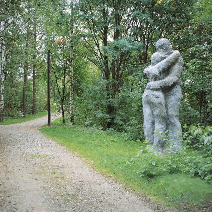 Lanupuisto (1989-92) Sijaitsee Vesijärven ranta-alueella, Kariniemen mäellä, aivan Sibeliustalon läheisyydessä. Olavi Lanu on suunnitellut veistokset, jotka on sijoitettu metsään, missä ne on tarkoitettu löydettäväksi sattumalta