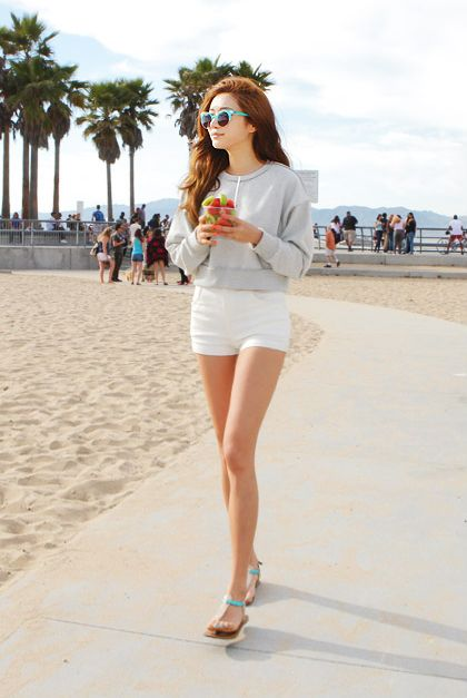 fine korean beach summer outfit images