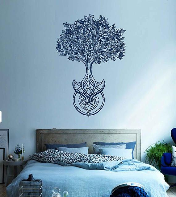 tree of life wall decals tree decor celtic wall decals for living