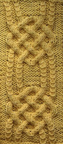 Locked Square Cable stitch