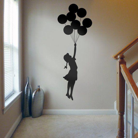 Banksy Balloon Girl Floating Away Vinyl Wall Sticker Decal