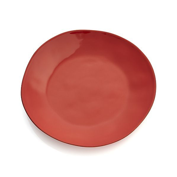 3 salad plates in orange and 2 dinner plates in orange