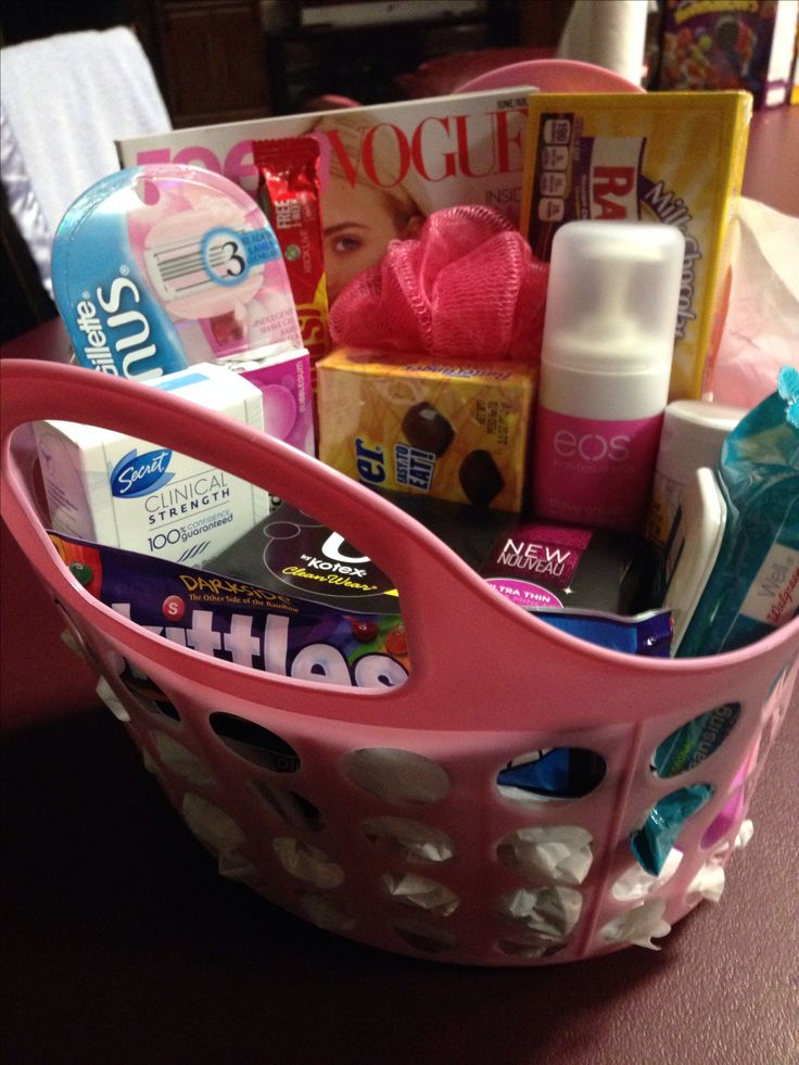 Welcome To Womanhood Care Package My 12 Year Old Started Her Period Today So I Brought Home A Make Feel Be