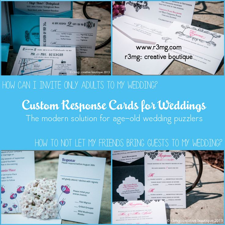 proper response time for wedding rsvp%0A Wedding Response cards  how to tell guests not to invite kids to my wedding