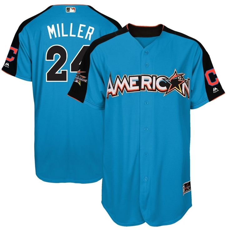 Indians Andrew Miller #24 2017 MLB All-Star American League Blue Men Home  Run