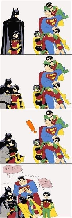 IN WHICH Bruce realizes that if you give a hug, those kids will do anything for you