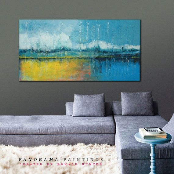 Sunny romantic landscape Anstract painting by PanoramaPaintings