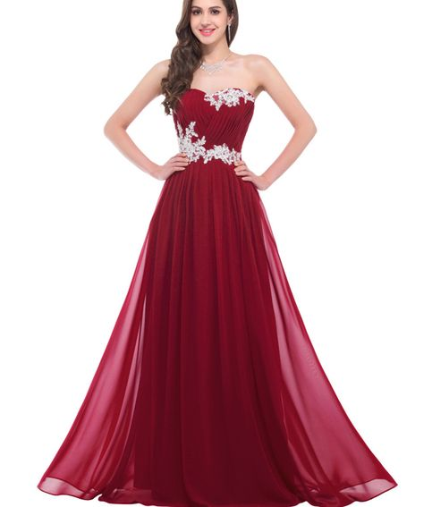 a35ad33254fd Hot Sales Burgundy Prom Dress