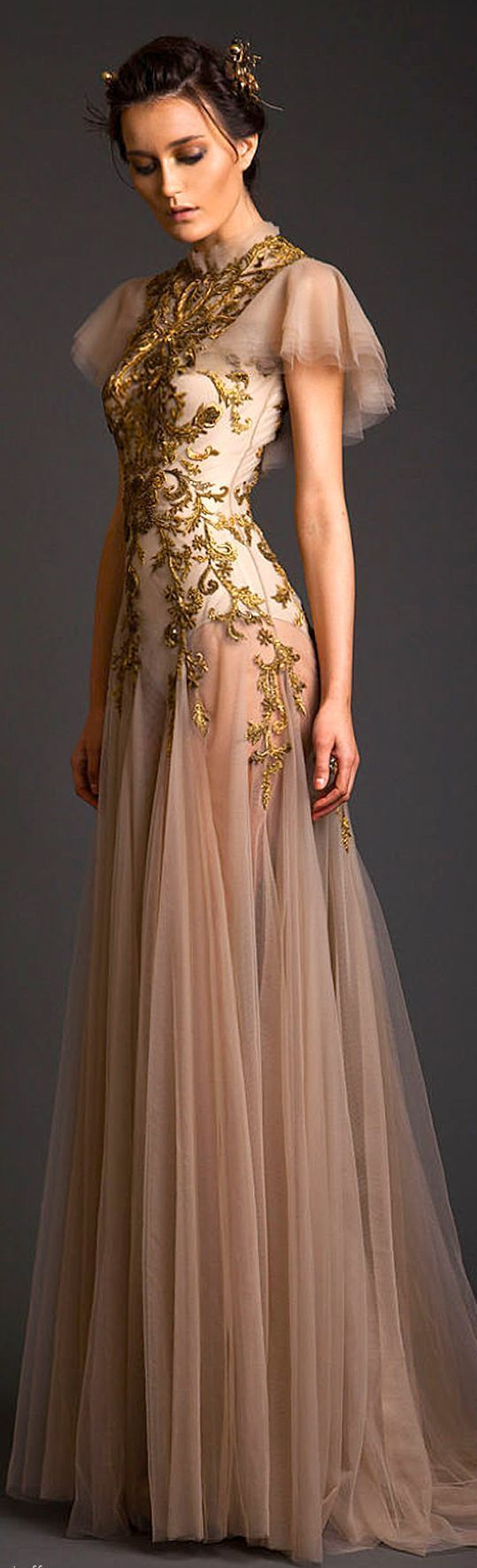 """Krikor Jabotian Couture S/S 2014 LBV  (^.^) Thanks, Pinterest Pinners, for stopping by, viewing, re-pinning,  following my boards.  Have a beautiful day! ^..^ and """"Feel free to share on Pinterest ^..^ #fashion   #fashionupdates"""