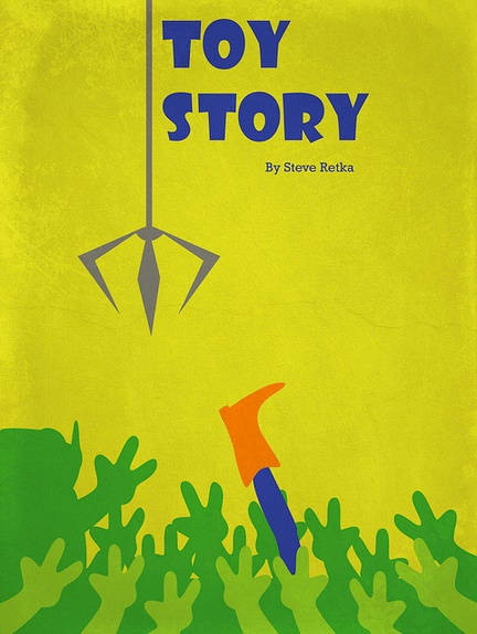 Toy Story #retro #movie #poster #graphic #design #disney #pixar #minimal #retrolifestyle #woody #littlegreenmen