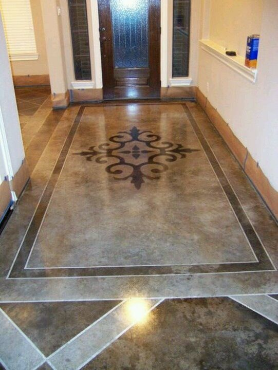 34 best Gorgeous Stenciled and Stained Concrete Floors images on ...