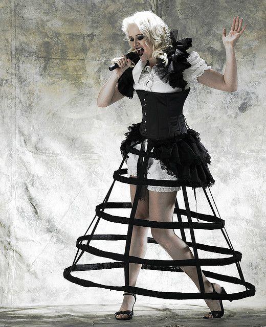 how to wear a hoop skirt