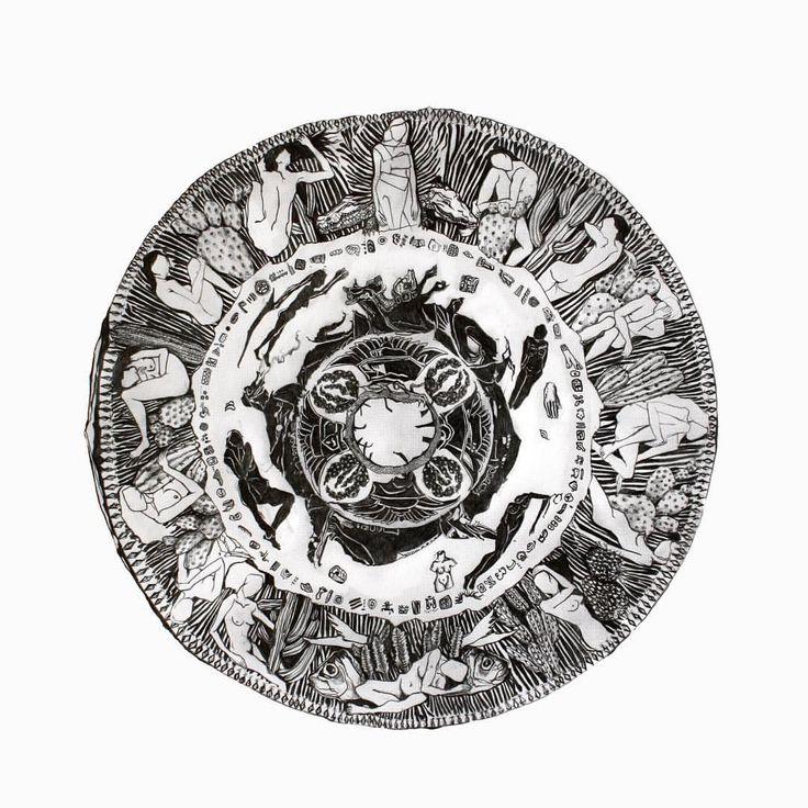 Su Sol, su Fuerza, su Música, su Tiempo | YO SOY LO QUE VEO EXPOSICIÓN  | Rebecca Bewick #illustration #ilustración #lapis #pencil #mexico #mexico