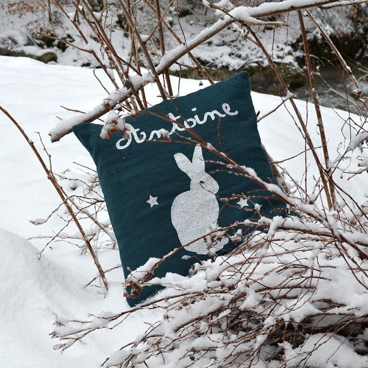 Coussin Lapin, made in France par Les Griottes.