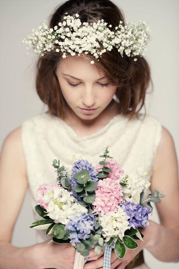 Wianek Ślubny - Kwiaty we Włosach