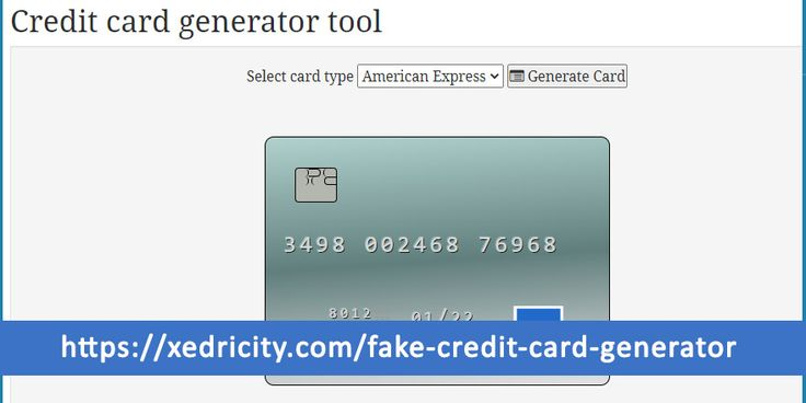 Valid credit card number Generator 2020 in 2020 New