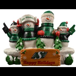 Saskatchewan Roughriders Snowman Bench