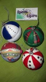 Palline natalizie patchwork