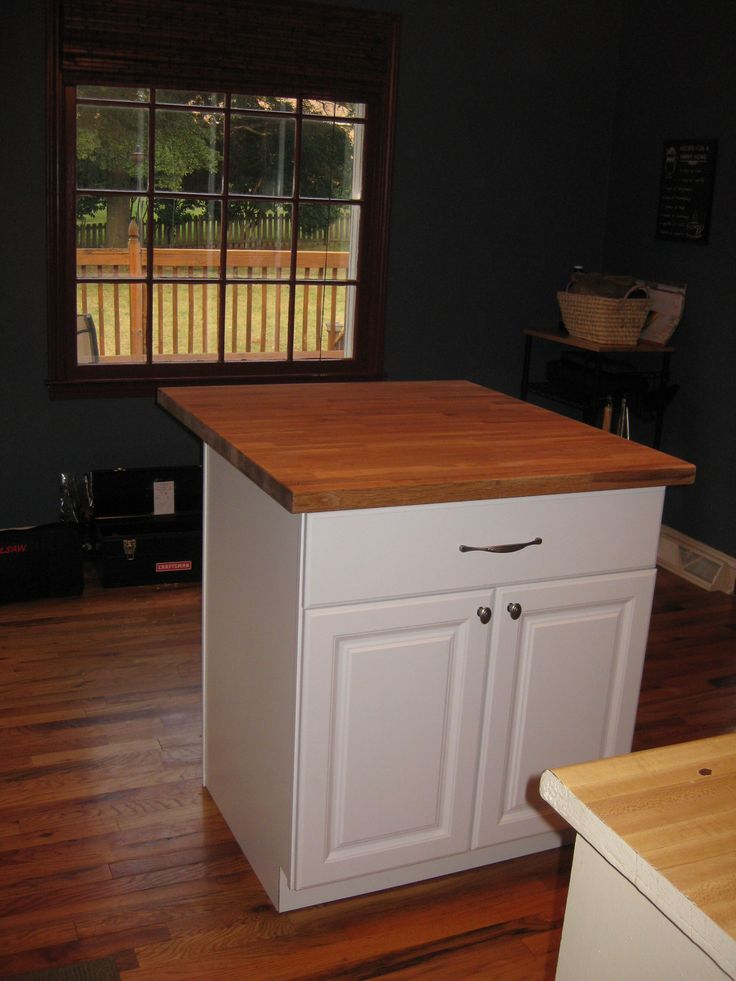 Diy Kitchen Island Tutorial From Pre Made Cabinets