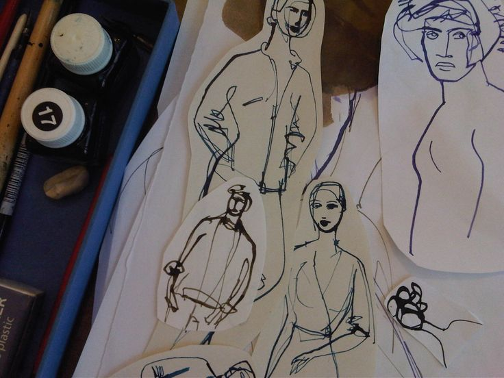 Cutting and paste sketches