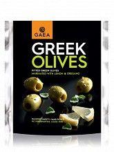 """Πράσινες ελιές Αγρινίου, χωρίς κουκούτσι μαριναρισμένες με λεμόνι & ρίγανη """"Gaea"""" 150g"""