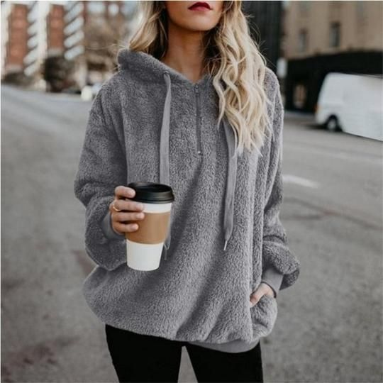 2018 New Russian Explosion Flannel Hooded Hoodies Women Long Sleeve Plus Velvet Thicken Warm Sweatshirt Women's Tops S To 5XL