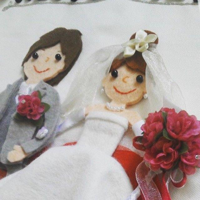 フェルトで友達のために作った#ウェルカムボード ♡  #フェルト #結婚式 #ウェディング #手作り