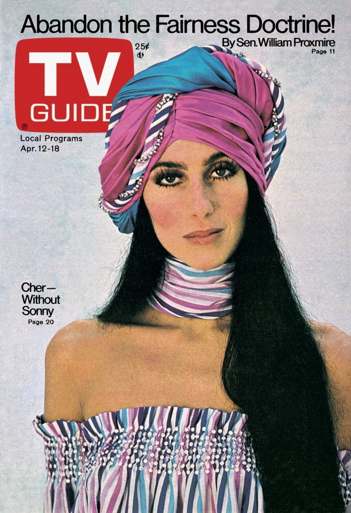 April 12, 1975. Cher, of Sonny and Cher.