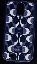 COACH Samsung Galaxy Case S4 Peyton Dream C  White Navy.  Dress up your phone with this designer case.  Please visit BeachBonBoutique on eBay.com