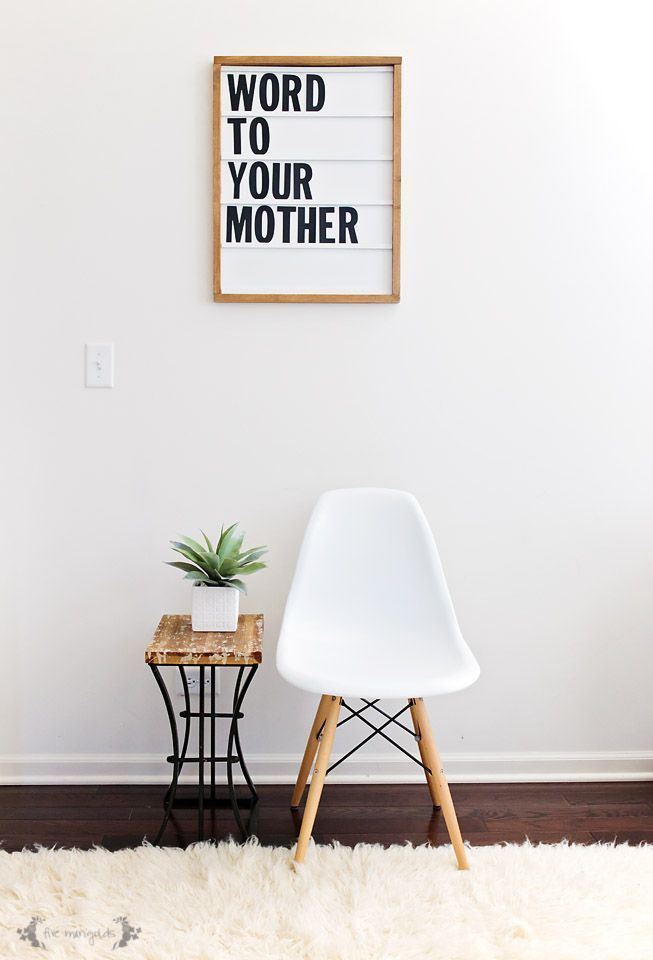 This DIY Letter Board is part marquee light, part letter board, 100% fabulous. Word to your mother.