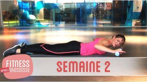 Sport après grossesse – fitness après grossesse – semaine 1 en vidéo. Exercices fessiers, abdos, dos et triceps pour retrouver la ligne après la grossesse.