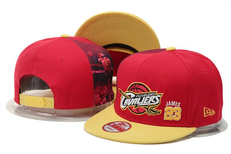 NBA Cleveland Cavaliers Snapback Red Hats--tpy