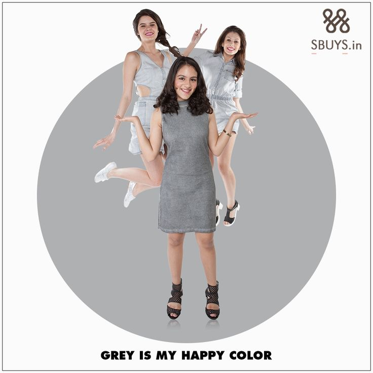 Wear #grey color #dress and look #glamorous... #Shop Now >>> http://www.sbuys.in/young/young-dress.html