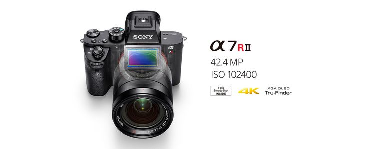 Sony has announced the a7R II (ILCE-a7RII) 42.4 megaipixels full frame camera, with in body image stabilization (IBIS) and electronic first curtain (EFC)!